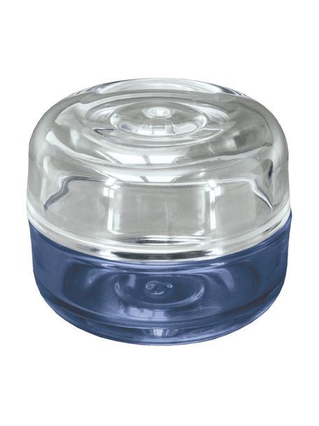 Bote para el baño de vidrio Heaven, Vidrio, Azul, Ø 10 x Al 8 cm