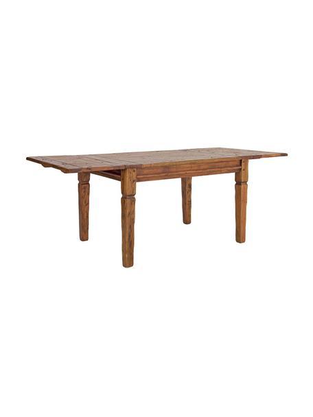 Tavolo allungabile in legno di acacia Chateux, Legno di acacia, Marrone, Larg. 120 a 200 x Prof. 90 cm