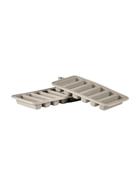 IJsblokjesvormen Bitt, 2 stuks, Siliconen, Taupe, 9 x 18 cm