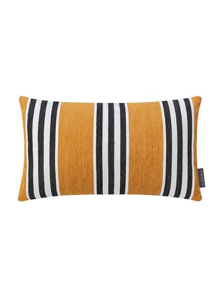 Poszewka na poduszkę Palermo, Musztardowy, biały, czarny, S 30 x D 50 cm