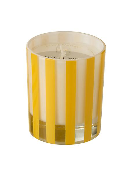 Candela profumata Beach Club (fiori), Contenitore: vetro, Giallo, bianco, trasparente, Ø 9 x Alt. 10 cm