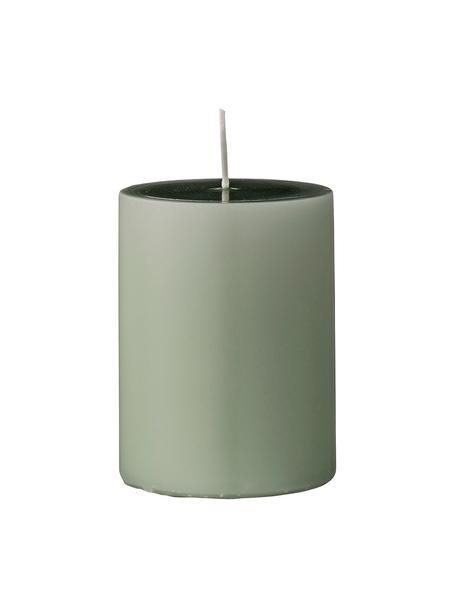 Stumpenkerzen Lulu, 4 Stück, Wachs, Hellgrün, Ø 7 x H 10 cm