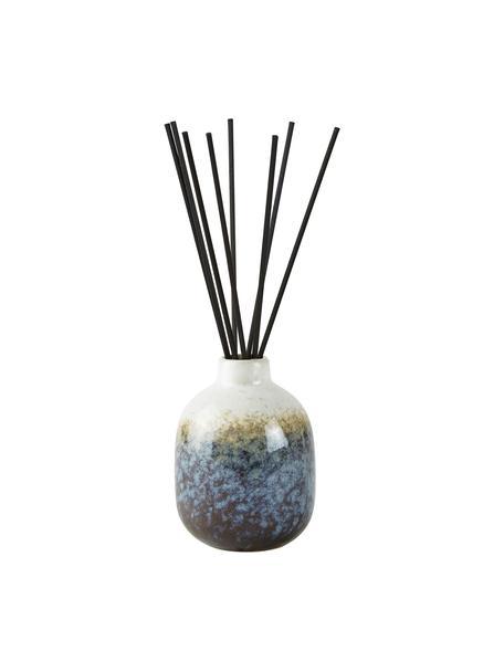 Diffuser Sea Salt (kokosnoot & zeezout), Houder: keramiek, Blauwtinten, wit, Ø 7 x H 10 cm