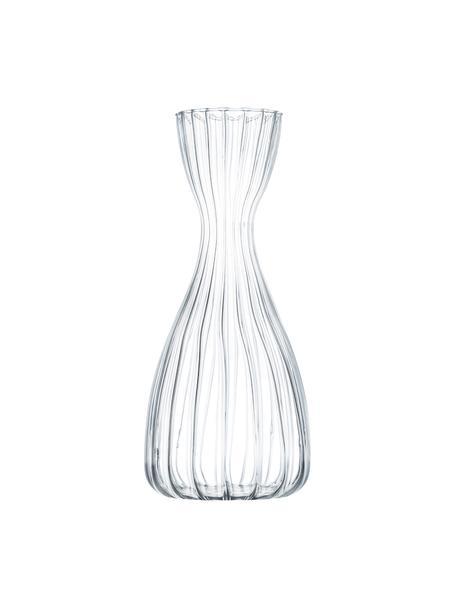 Karafka ze szkła borokrzemowego Romantic, 1 l, Szkło borokrzemowe, Transparentny, Ø 8 x W 25 cm