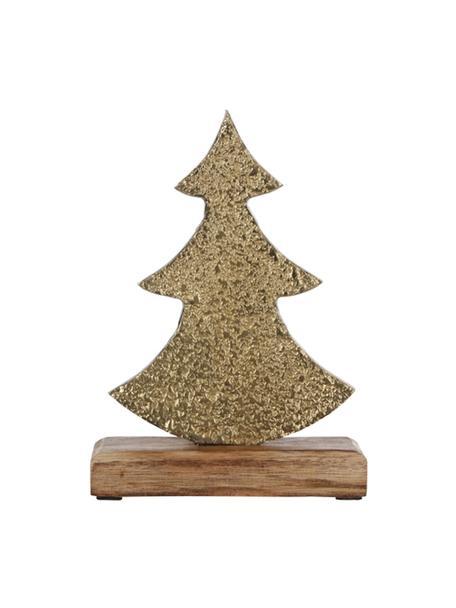 Oggetto decorativo Christmas Tree, Ottonato, Larg. 13 x Alt. 21 cm