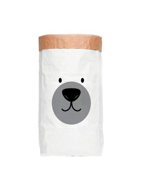 Aufbewahrungstüte Bear, Recyceltes Papier, Weiss, Schwarz, Grau, 60 x 90 cm