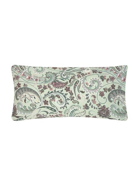 Baumwoll-Kopfkissenbezüge Liana in Grün mit Paisley-Muster, 2 Stück, Webart: Renforcé Fadendichte 144 , Grün, Mehrfarbig, 40 x 80 cm