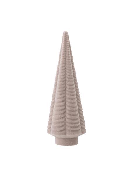 Oggetto decorativo Ingela, Struttura: materiale sintetico, Rivestimento: velluto di poliestere, Rosa, Ø 7 x Alt. 20 cm
