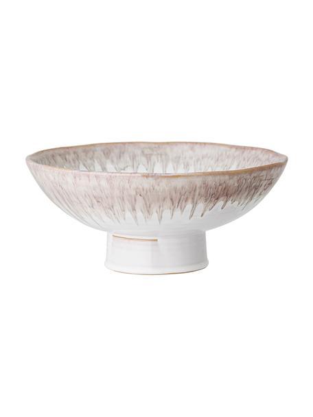 Handgemachte Schale Caya in Beige/Lila aus Steingut, Ø 31 cm, Steingut, Beige, Ø 31 x H 13 cm