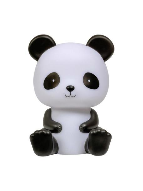 LED lichtobject Panda, Kunststof, BPA-, lood- en ftalaatvrij., Wit, zwart, 12 x 19 cm