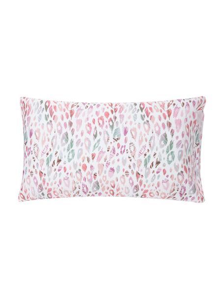 Fundas de almohada de satén Animal Print, 2uds., 50x80cm, Blanco, multicolor, An 50 x L 80 cm