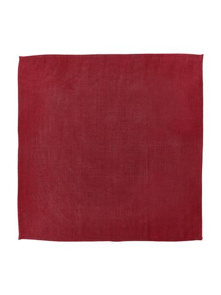 Linnen servetten Heddie in rood, 2 stuks, 100% linnen, Rood, 45 x 45 cm