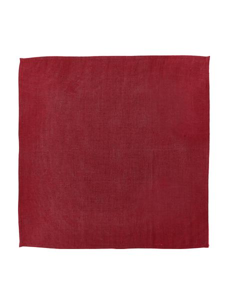 Tovagliolo in lino rosso Heddie 2 pz, 100% lino, Rosso, Larg. 45 x Lung. 45 cm