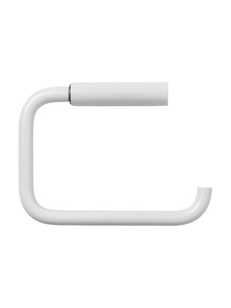 Toilettenpapierhalter Modo, Metall, beschichtet, Weiß, 10 x 13 cm