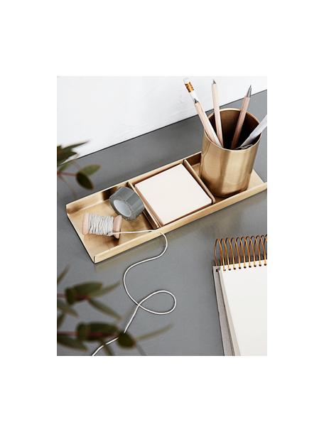 Set organizador de escritorio Stationary, 3pzas., Metal, Dorado, An 27 x Al 10 cm