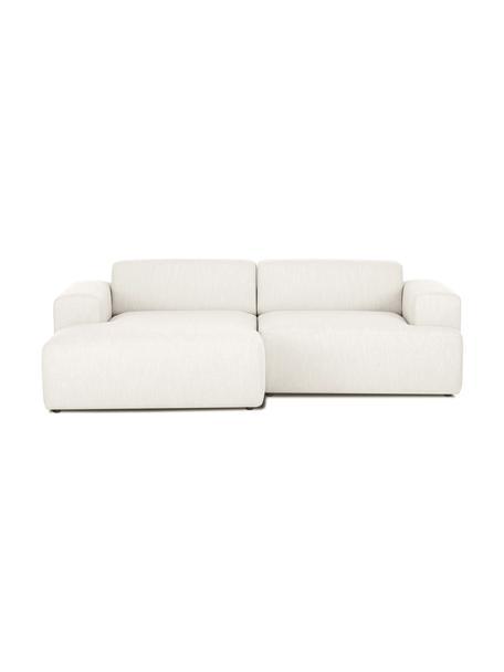 Ecksofa Melva (3-Sitzer) in Beige, Bezug: 100% Polyester Der hochwe, Gestell: Massives Kiefernholz, FSC, Webstoff Beige, B 239 x T 143 cm