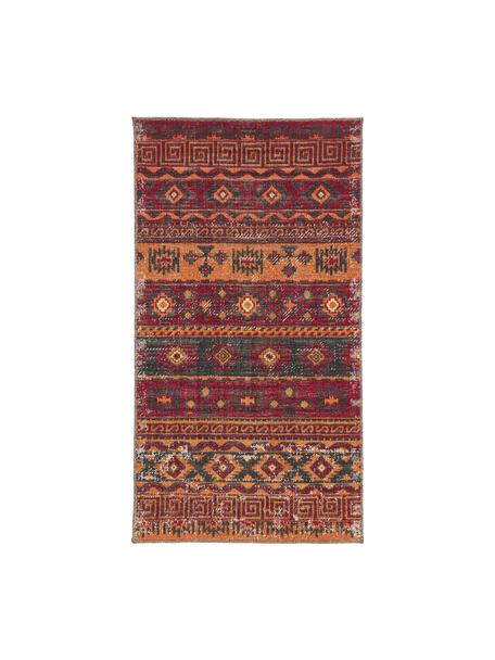 In- & outdoor vloerkleed Tilas Istanbul in donkerrood, Orient Style, Donkerrood, mosterdgeel, kakikleurig, B 80 x L 150 cm (maat XS)