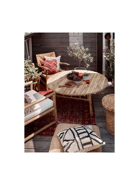 In- & outdoor vloerkleed Tilas Istanbul in donkerrood, Orient Style, 100% polypropyleen, Donkerrood, mosterdgeel, kakikleurig, B 80 x L 150 cm (maat XS)
