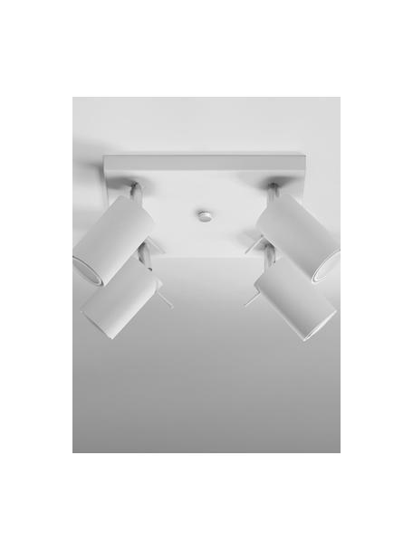 Kleiner Deckenstrahler Etna in Weiss, Baldachin: Stahl, lackiert, Weiss, 25 x 15 cm