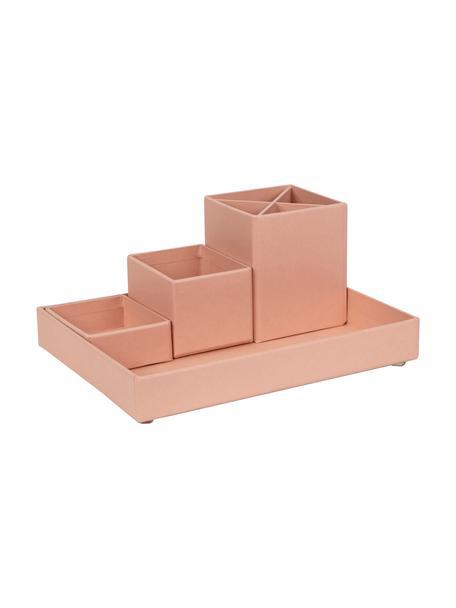 Büro-Organizer-Set Lena, 4-tlg., fester, laminierter Karton, Altrosa, Set mit verschiedenen Grössen