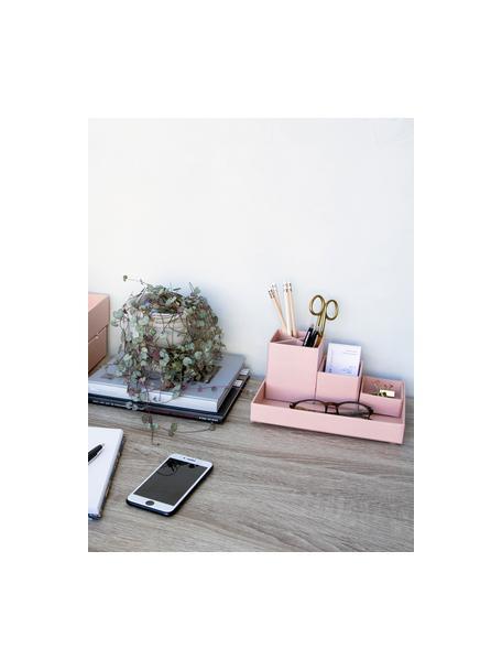 Komplet organizerów biurowych, 4 elem., Tektura laminowana, Brudny różowy, Komplet z różnymi rozmiarami