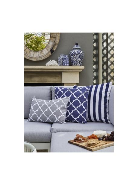 Poszewka na poduszkę Timon, Bawełna, Ciemny niebieski, biały, S 45 x D 45 cm