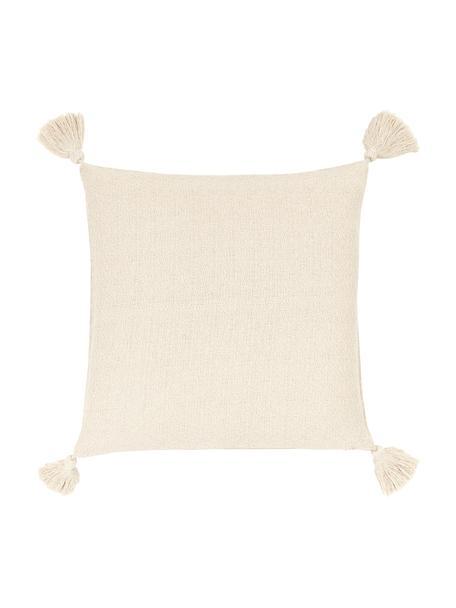 Funda de cojín Lori, 100%algodón, Beige, An 40 x L 40 cm