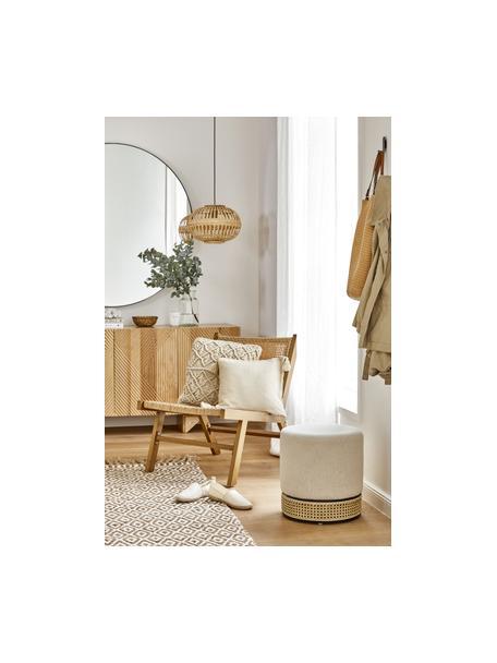 Federa arredo beige con nappe decorative Lori, 100% cotone, Beige, Larg. 40 x Lung. 40 cm