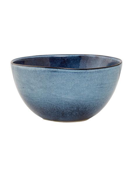 Handgemachte Steingut-Schälchen Sandrine in Blautönen, 6 Stück, Steingut, Blautöne, Ø 15 x H 8 cm