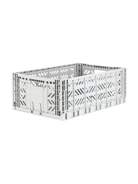 Klappbox Light, stapelbar, gross, Recycelter Kunststoff, Hellgrau, 60 x 22 cm
