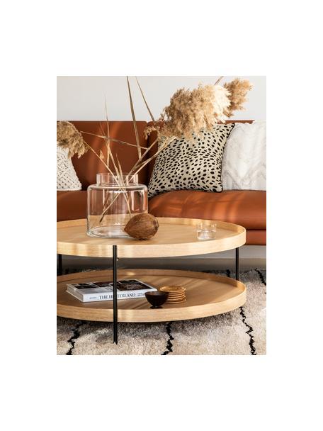 Federa arredo con motivo leopardato Leopard, 100% cotone, Beige, nero, Larg. 45 x Lung. 45 cm