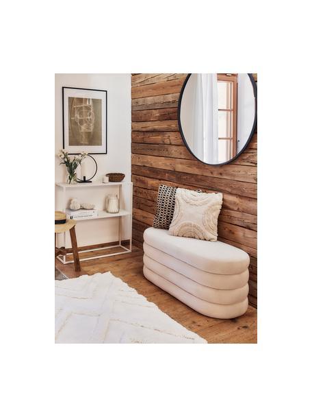 Boho Kissenhülle Yara mit getufteten Verzierungen, 100% Baumwolle, Ecru, 45 x 45 cm