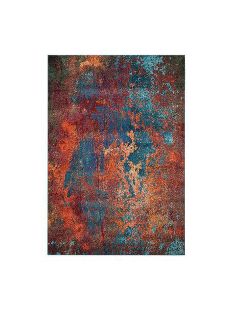 Alfombra de diseño Celestial, Parte superior: 100%polipropileno, Reverso: yute, Rojo, azul, verde, An 120 x L 180 cm (Tamaño S)