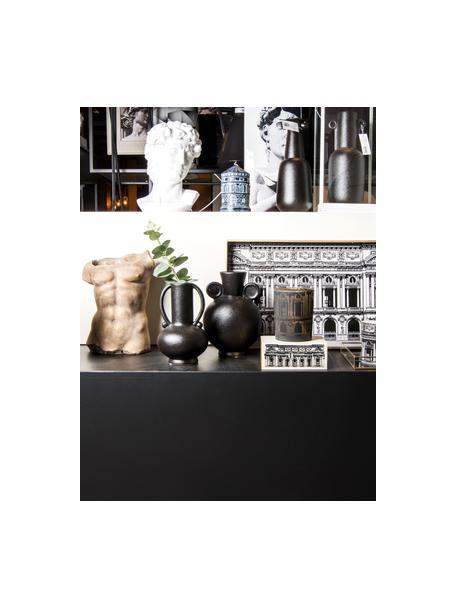 Portavaso di design in cemento Torso, Cemento, Dorato, Larg. 21 x Alt. 29 cm