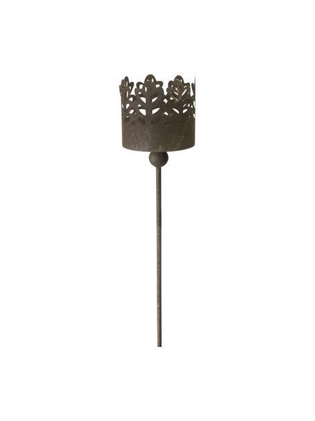 Garten-Windlicht Ragna, Metall, beschichtet, Rostbraun, Ø 11 x H 79 cm