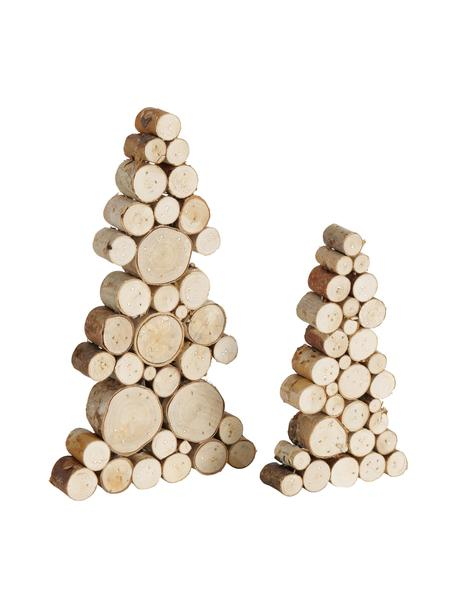 Deko-Bäume Allgäu aus Holz, 2 Stück, Holz, Braun, Set mit verschiedenen Größen