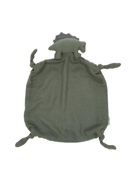 Knuffeldeken Agnete, 100% biokatoen, Oeko-Tex gecertificeerd, Groen, 35 x 35 cm