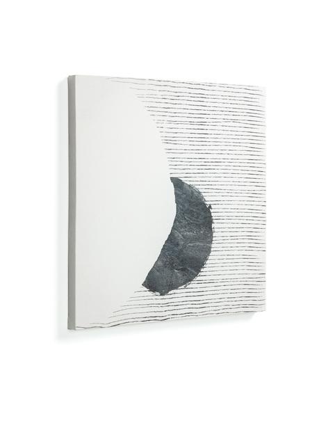 Leinwandbild Prisma, Bild: Leinwand, Weiß, Schwarz, 50 x 50 cm