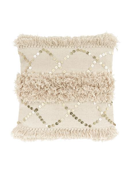Poszewka na poduszkę Frederieke, 100% bawełna, Beżowy, S 45 x D 45 cm