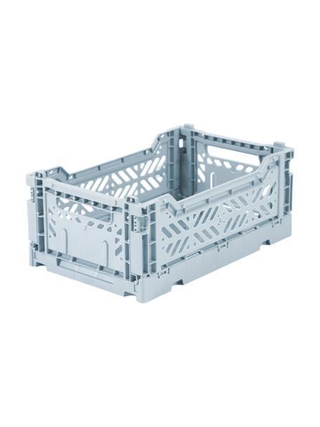 Klappbox Pale Blue, stapelbar, klein, Recycelter Kunststoff, Hellblau, 27 x 11 cm