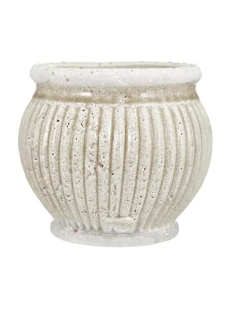 Macetero artesanal de cerámica Catinia, Cerámica, Beige, Ø 19 x Al 16 cm