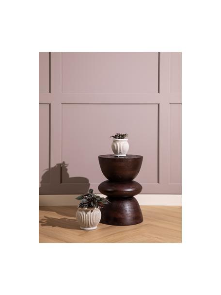 Ręcznie wykonana osłonka na doniczkę z ceramiki Catinia, Ceramika, Beżowy, Ø 19 x W 16 cm