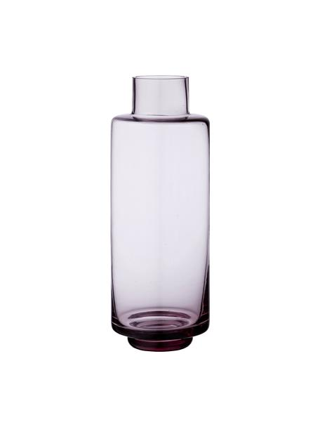 Duży wazon ze szkła dmuchanego Hedria, Szkło, Blady różowy, Ø 11 x W 30 cm
