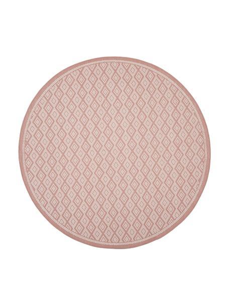 In- & Outdoor-Teppich Capri in Koralle/Creme, 86% Polypropylen, 14% Polyester, Weiß, Rot, Ø 140 cm (Größe M)