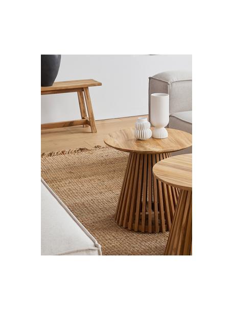 Handgefertigter Jute-Teppich Naturals mit Fransen, 100% Jute, Jute, B 60 x L 90 cm (Grösse XXS)