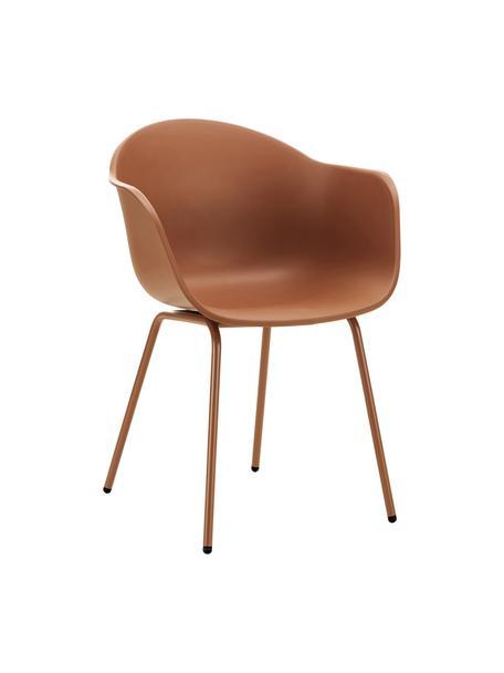 Krzesło ogrodowe Claire, Nogi: metal malowany proszkowo, Brązowy, S 60 x G 54 cm