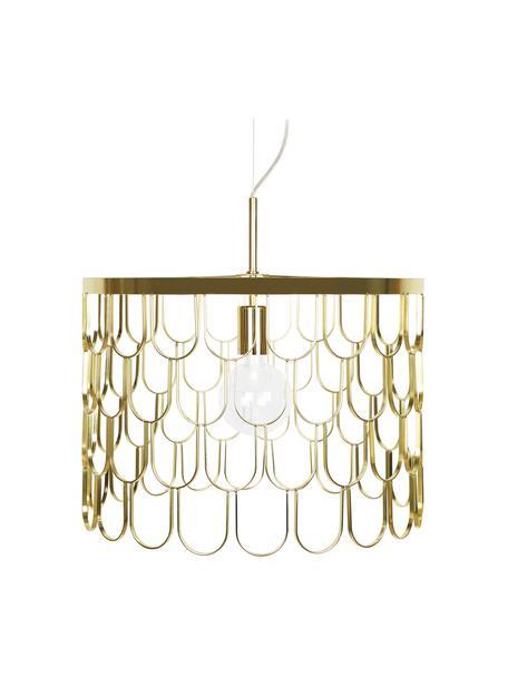 Hanglamp Gatsby, Lampenkap: metaal, Baldakijn: metaal, Messingkleurig, Ø 45 x H 32 cm