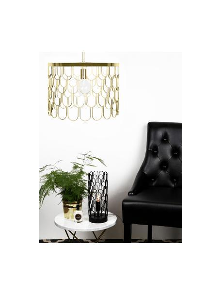 Lámpara de techo pequeña Gatsby, Pantalla: metal, Anclaje: metal, Cable: plástico, Latón, Ø 45 x Al 32 cm