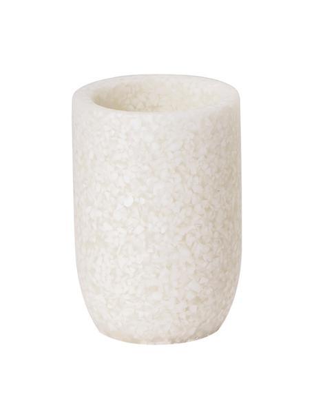 Tazza porta spazzolini Neru, Materiale sintetico, Beige chiaro, Ø 8 x Alt. 12 cm