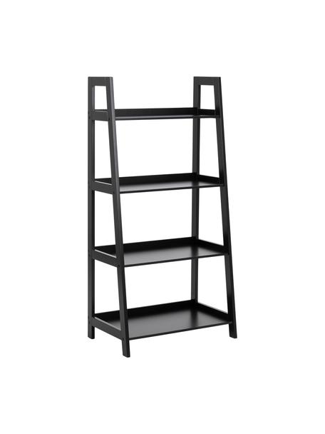Laag wandrek Wally in zwart, Gelakt MDF, Zwart, B 63 cm